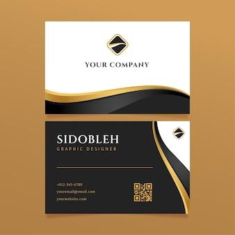 Plantilla de tarjetas de identidad empresarial de lujo
