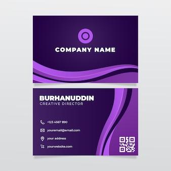 Plantilla de tarjetas de identidad empresarial violeta