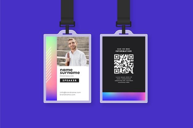 Plantilla de tarjetas de identificación abstracta