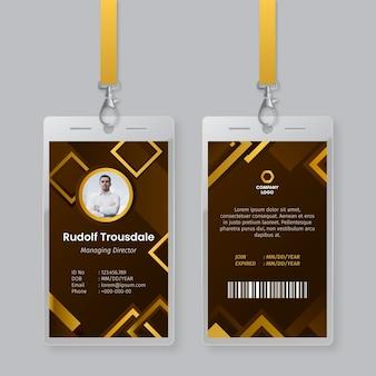 Plantilla de tarjetas de identificación de diseño abstracto
