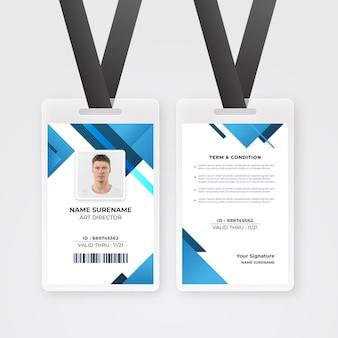 Plantilla de tarjetas de identificación con foto