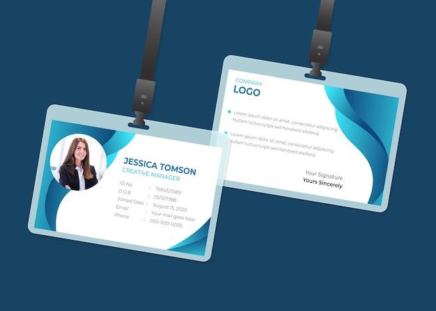 Plantilla de tarjetas de identificación mínima
