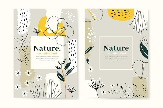 Plantilla de tarjetas tropicales abstractas