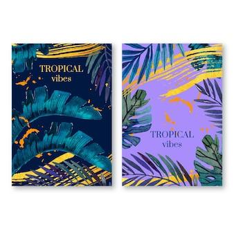 Plantilla de tarjetas tropicales