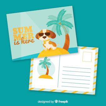 Plantilla de tarjetas de vacaciones de verano