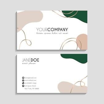 Plantilla de tarjetas de visita abstractas
