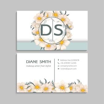 Plantilla de tarjetas de visita de flores