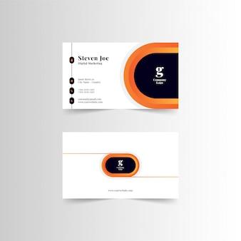 Plantilla de tarjetas de visita modernas premium