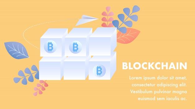 Plantilla de tecnología blockchain