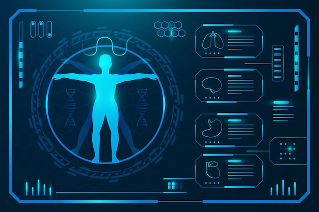 Plantilla de tecnología médica infografía