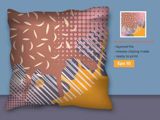 Plantilla de tela decorativa abstracta