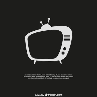 Plantilla con televisor retro