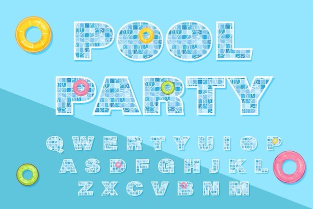 Plantilla de texto de la piscina
