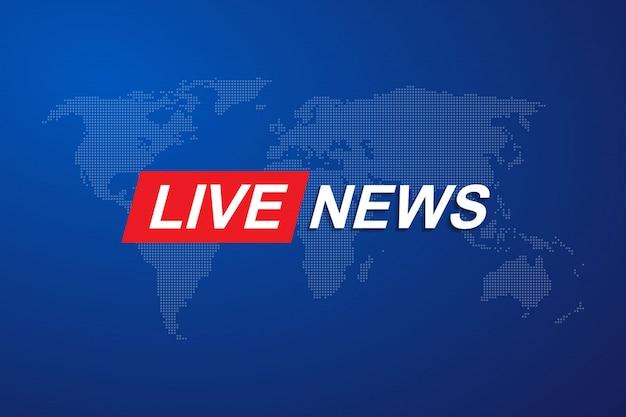 Plantilla de título de breaking news