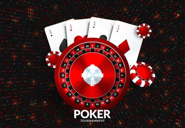 Plantilla de torneo de juego de casino