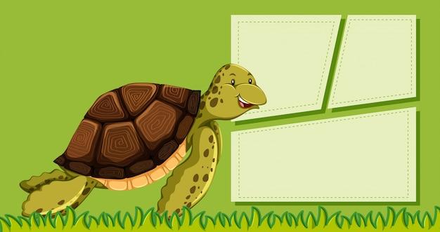 Plantilla de tortuga verde