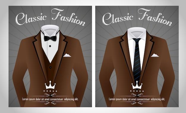 Plantilla de traje de negocios de moda clásica