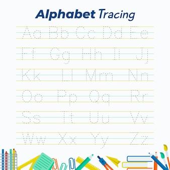 Plantilla de trazado de alfabeto creativo