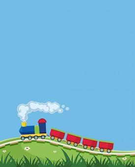 Una plantilla de tren en la naturaleza