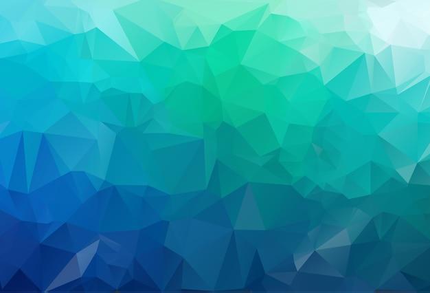 Plantilla de triángulo borroso vector verde.