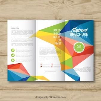 Plantilla tríptica de folleto abstracto