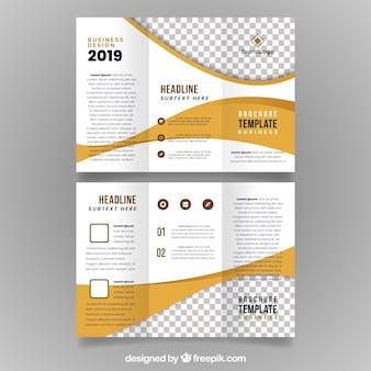 Plantilla tríptica de folleto de negocios