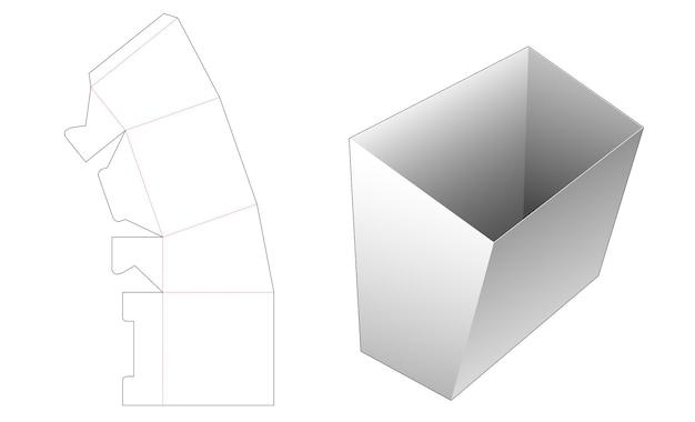 Plantilla troquelada de contenedor de papel de snack