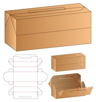 Plantilla de troquelado de caja