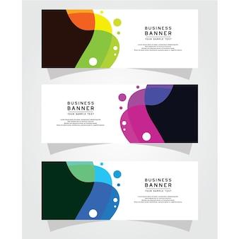 Plantilla de vector abstracto diseño banner web