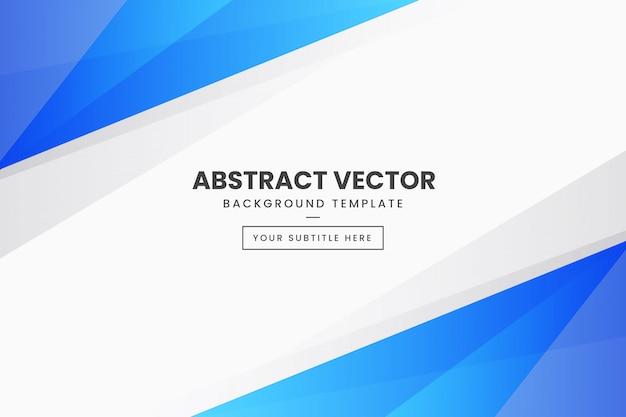 Plantilla de vector abstracto con formas azules