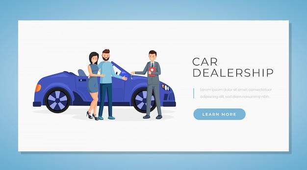 Plantilla de vector de banner de concesionario de automóviles