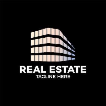 Plantilla de vector de diseño de logotipo de construcción inmobiliaria.