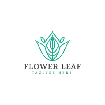 Plantilla de vector de diseño de logotipo de hoja natural