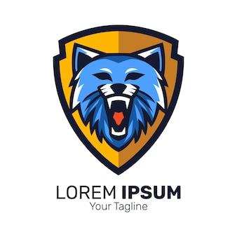 Plantilla de vector de diseño de logotipo de mascota salvaje