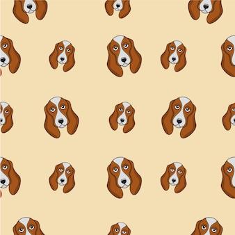 Plantilla de vector de diseño de patrón de perro