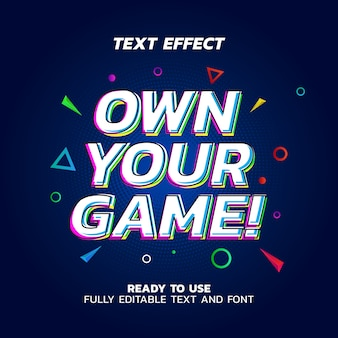 Plantilla de vector de efecto de texto de eco