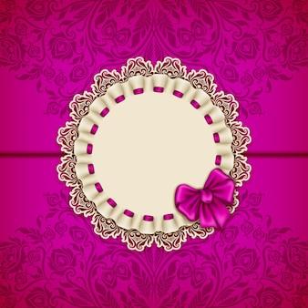 Plantilla de vector elegante para invitación de lujo, tarjeta
