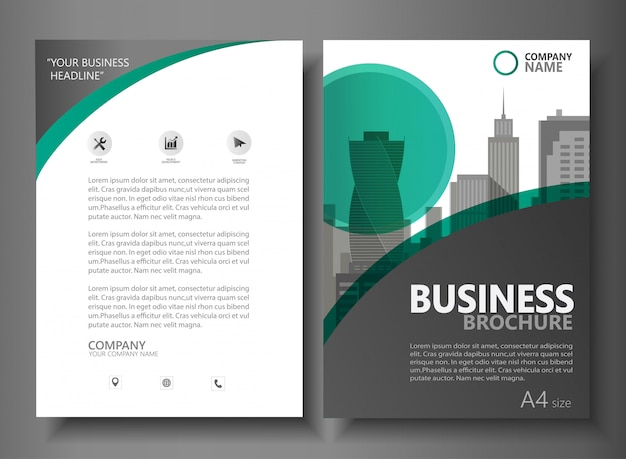 Plantilla de vector de folleto de negocio folleto