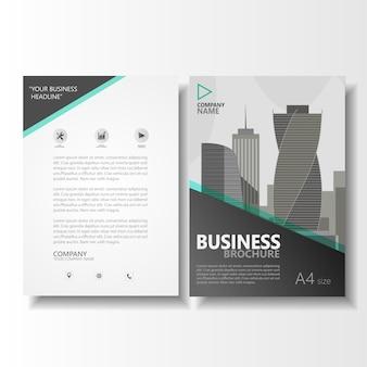 Plantilla de vector de folleto tamaño a4 folleto de negocios