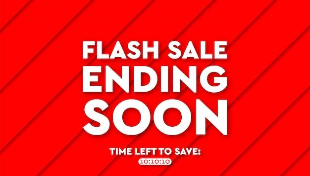 Plantilla de vector de fondo de banner de venta flash.