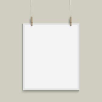 Plantilla de vector de hoja de papel