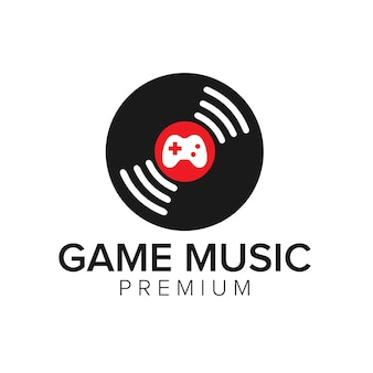 Plantilla de vector de icono de logotipo de música de juego