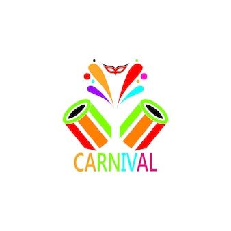 Plantilla de vector de icono y símbolo de carnaval