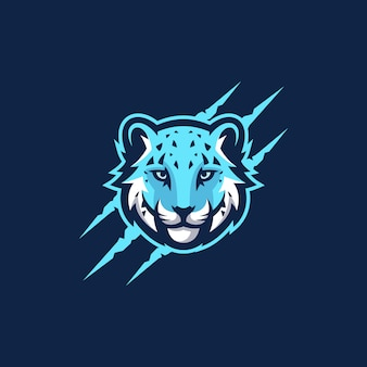 Plantilla de vector de ilustración abstracta cabeza tigre