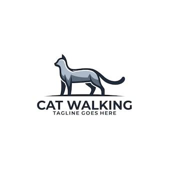 Plantilla de vector de ilustración de concepto de diseño de gato