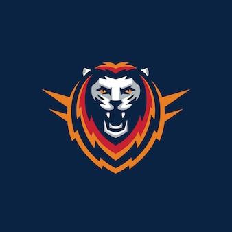 Plantilla de vector de ilustración de diseño de león deportivo