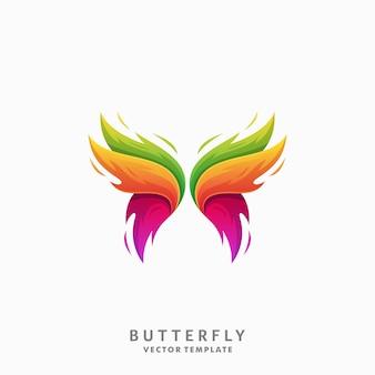 Plantilla de vector de ilustración de mariposa