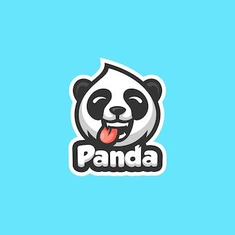 Plantilla de vector de ilustración de panda concept