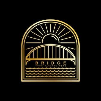 Plantilla de vector logo de puente