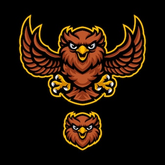 Plantilla de vector de logotipo de mascota búho